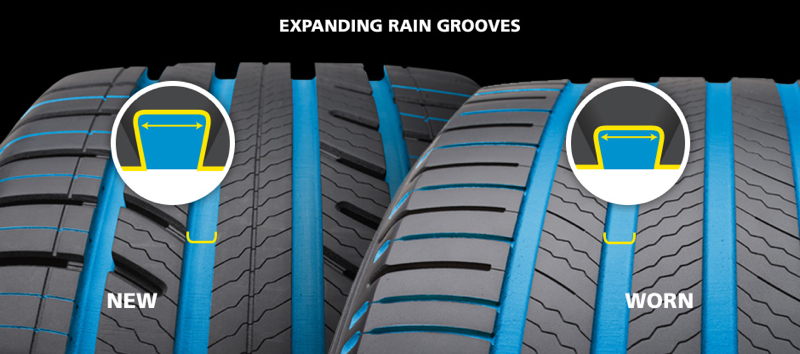 The MICHELIN® Premier® A/S tire with EverGrip™ Technology